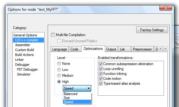 compiler settings